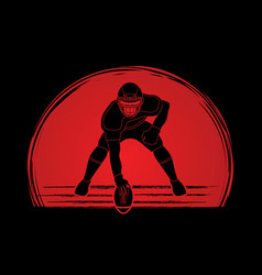 american football pose graphic vector image vector image
