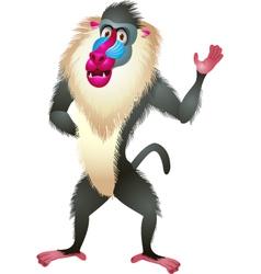 Baboon cartoon vector