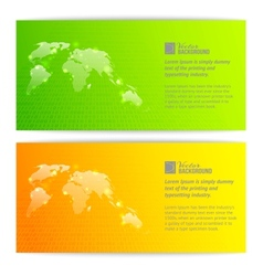 Banners with globe maps vector image