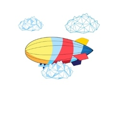 Bright airship vector