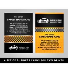 Business card - taxi vector
