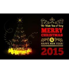 Christmas tree from light vector