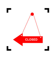 closed sign red icon inside vector image