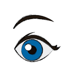 Comic eye looking vector