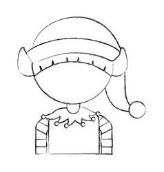 cute little christmas boy elf vector image vector image