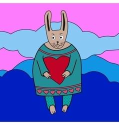 cute romantic bunny boy vector image vector image
