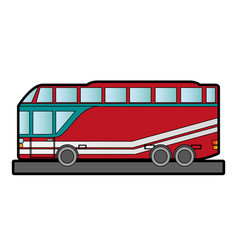 Double decker bus sideview icon image vector
