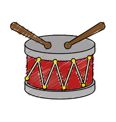 drum toy musical instrument vector image