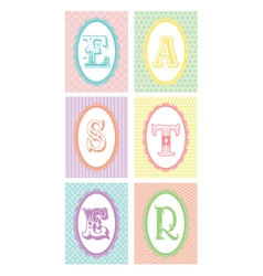 easter monograms lace borders vector image vector image