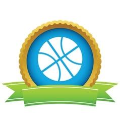 Gold basketball logo vector