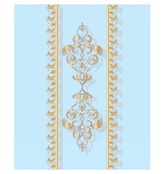 Invitation card with golden classic ornament vector image vector image