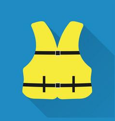 Life jacket flat design style modern vector