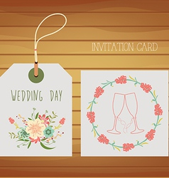 Love design for your wedding day vector image vector image
