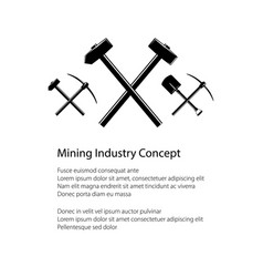 Mining and construction concept vector