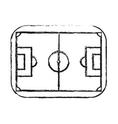 monochrome blurred silhouette of soccer field vector image