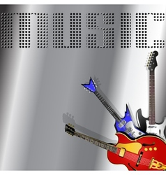 musical background with guitar vector image vector image