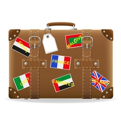 old suitcase for travel 02 vector image vector image