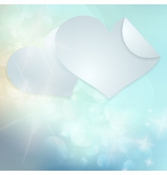 Paper hearts Valentines day card vector image
