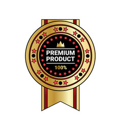 premium product quality sticker golden medal with vector image