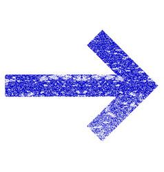 Right arrow grunge textured icon vector