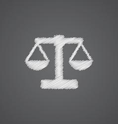 Scales sketch logo doodle icon vector