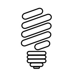 silhouette of fluorescent light bulb icon vector image