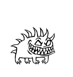 Small dog from hell vector