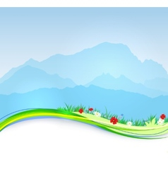 spring Mont Blanc background vector image vector image
