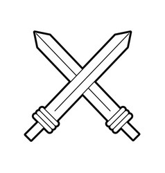 Sword weapon warrior game vector