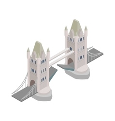 Tower Bridge in London icon isometric 3d style vector image vector image