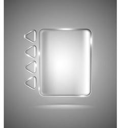 Transparent glass rectangle and triangles vector