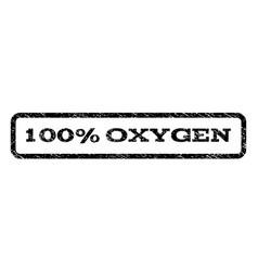 100 percent oxygen watermark stamp vector