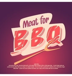Meat for barbecue and grilling vector