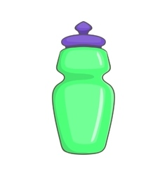 Flask for water icon cartoon style vector