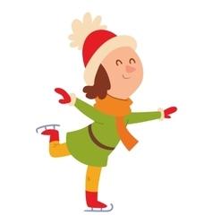 Christmas girl playing winter games vector