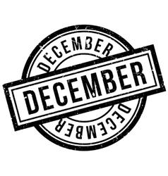December rubber stamp vector