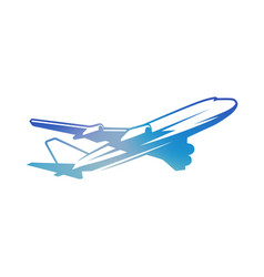 Flying vintage color airplane vector