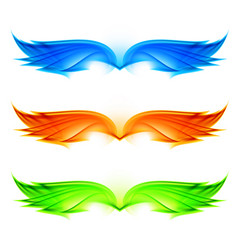 Abstract wings set on white background vector