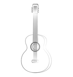 isolated guitar music instrument vector image