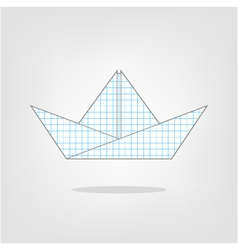 A paper boat on a background vector