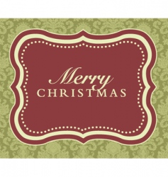 merry Christmas frame vector image