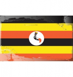 Uganda national flag vector