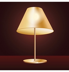Realistic lampshade in dark red background vector