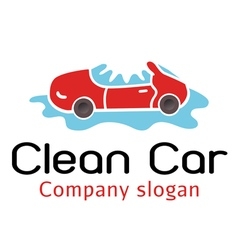 Clean car design vector