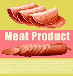 Meat product and sign vector