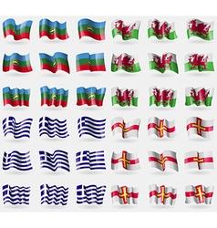 Karachaycherkessia wales greece guernsey set of 36 vector