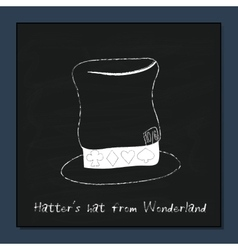 Hatter hat from alice adventures in wonderland vector