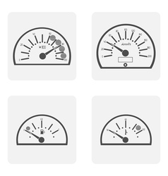 Icon set with spidoietr temperature auto vector
