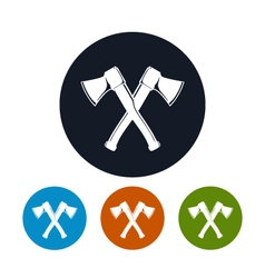 Two crossed axes icon vector
