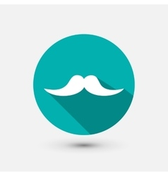 Hipster mustache minimal icon vector image